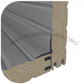 Remate panel sandwich forma de L color exterior de 5x5