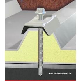 Tornilleria especial para el panel sandwich de cubierta y de fachada para todo tipo de vigas