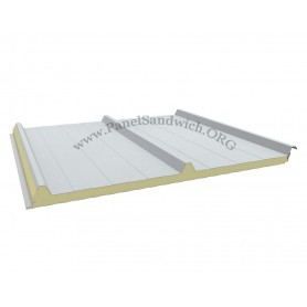 Panel de cubierta de 3 grecas con tornillo visto para cubiertas