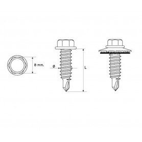 Tornillo Panel Sandwich Remateria