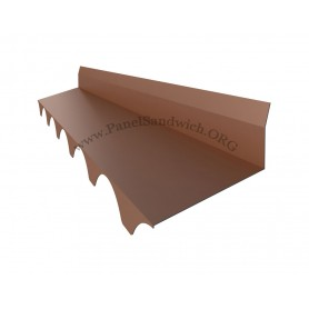 Panel imitacion teja -remate trasero troquelado