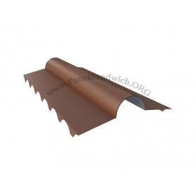 Panel imitacion teja -cumbrera troquelada