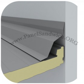 Remate para panel sandwich lateral pared
