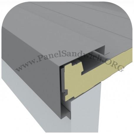 Remate para panel sandwich para coronacion lateral