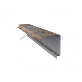 Remate de coronacion para el panel imitacion teja color albero envejecido