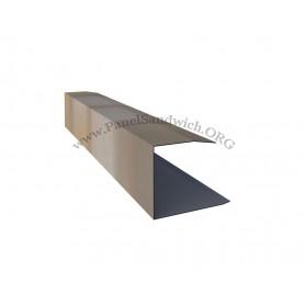 Remate lateral para panel sandwich imitacion teja color Albero envejecido