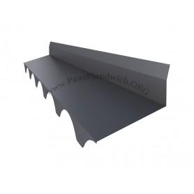 Remate tapa el trasero del panel con la pared para panel sandwich imitacion teja color gris pizarra