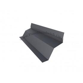 Remate tapa lateral con la pared para panel sandwich imitacion teja color gris pizarra