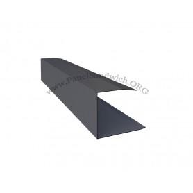 Remate lateral para panel sandwich imitacion teja color gris pizarra