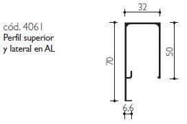 cod.4061 Perfil superior y lateral en AL