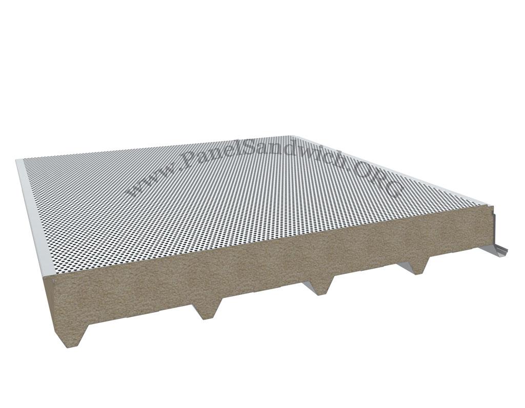 Panel de lara de roca acustico de cubierta