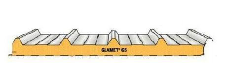 Panel con nervio central y solape de unión