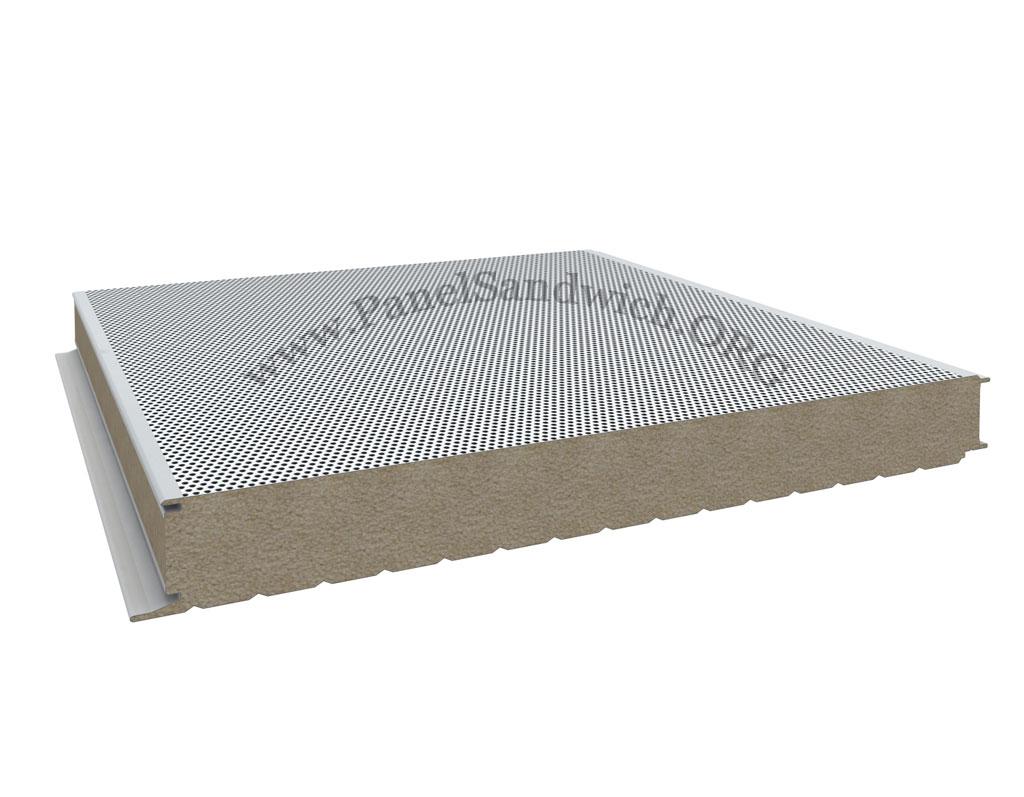 Panel lana de roca de fachada antifuego
