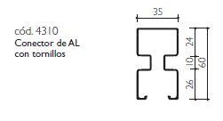 cod.4310. Conector de AL con tornillos