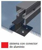 Sistema con conector de aluminio
