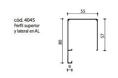 cod.4045 Perfil superior y lateral en AL