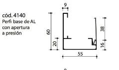 cod.4140 Perfil base de AL con apertura a presión