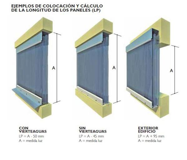 Ejemplo de colocacion y calculo de la longitud de los paneles