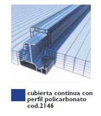 Cubierta continua con perfil policarbonato