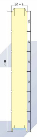 tamaño panel seccional industrial grande