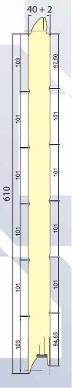 SWR 500/610 (ACANALADO) medidas