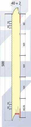 SWM 500/610 (MICROPERFILADO) medidas