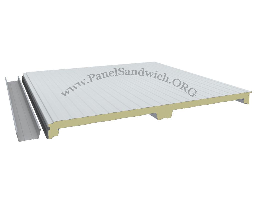 Panel Sandwich Tapajuntas de color blanco interior
