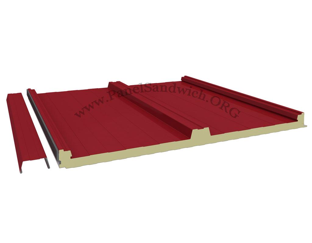 Panel de cubierta con tapajuntas