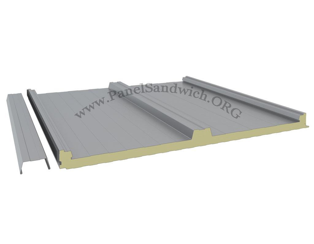 Panel Sandwich Tapajuntas de color silver