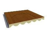 Panel sandwich imitacion madera alistonada.