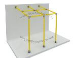 Estructura metalica atornillada para colocar el panel sandwich
