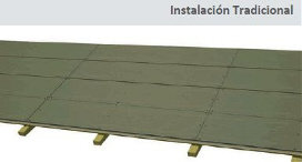 Panel sandwich madera colocacion alterntiva